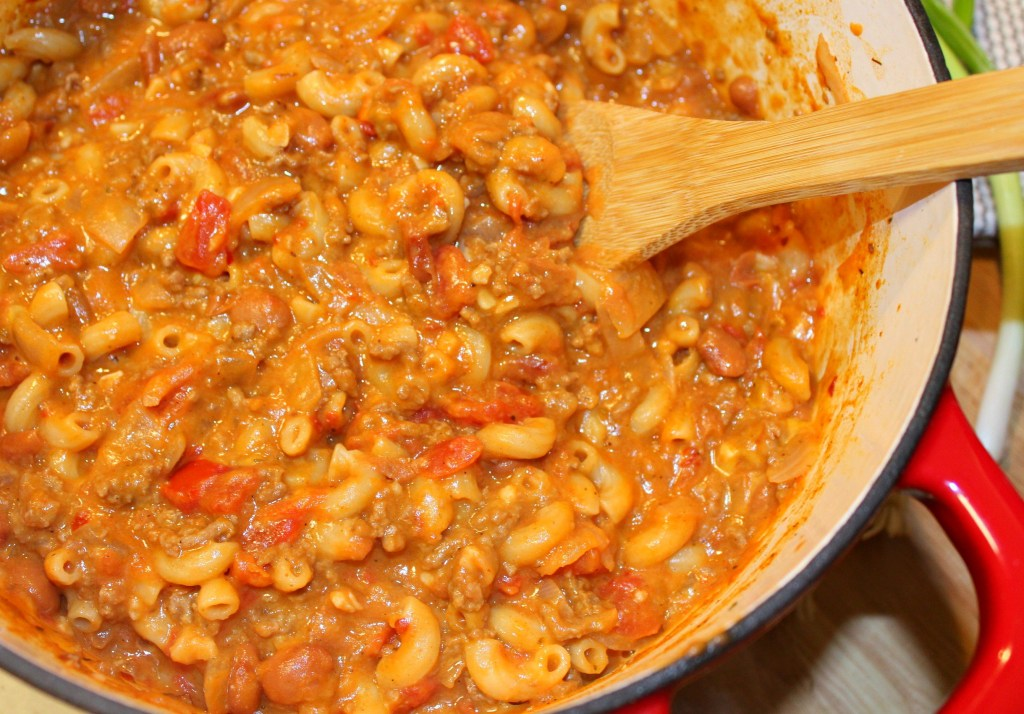 One Pot Cheesy Chili Mac - Forks 'n' Flip Flops