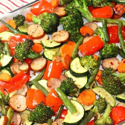 Sheet Pan Low Carb Sage Sausage and Veggies