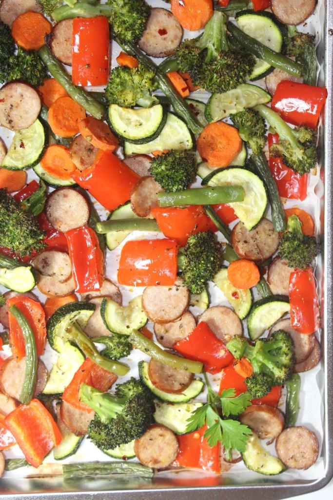 Sheet Pan Sage Sausage and Veggies