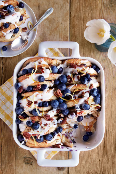 Blueberry Pecan Bread Pudding