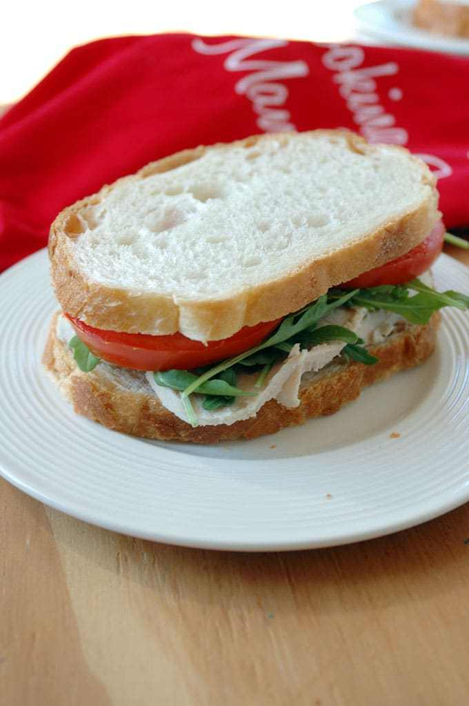 Turkey slices sandwich