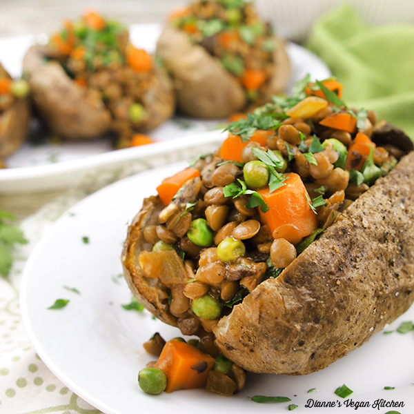 Vegan Shepherd's Pie Baked Potatoes