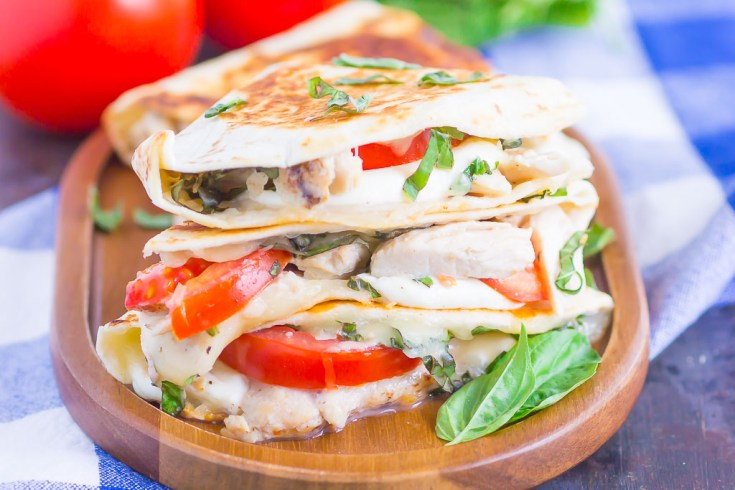 Chicken Caprese Quesadillas