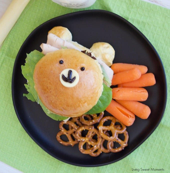 Cute Teddy Bear Sandwich Buns