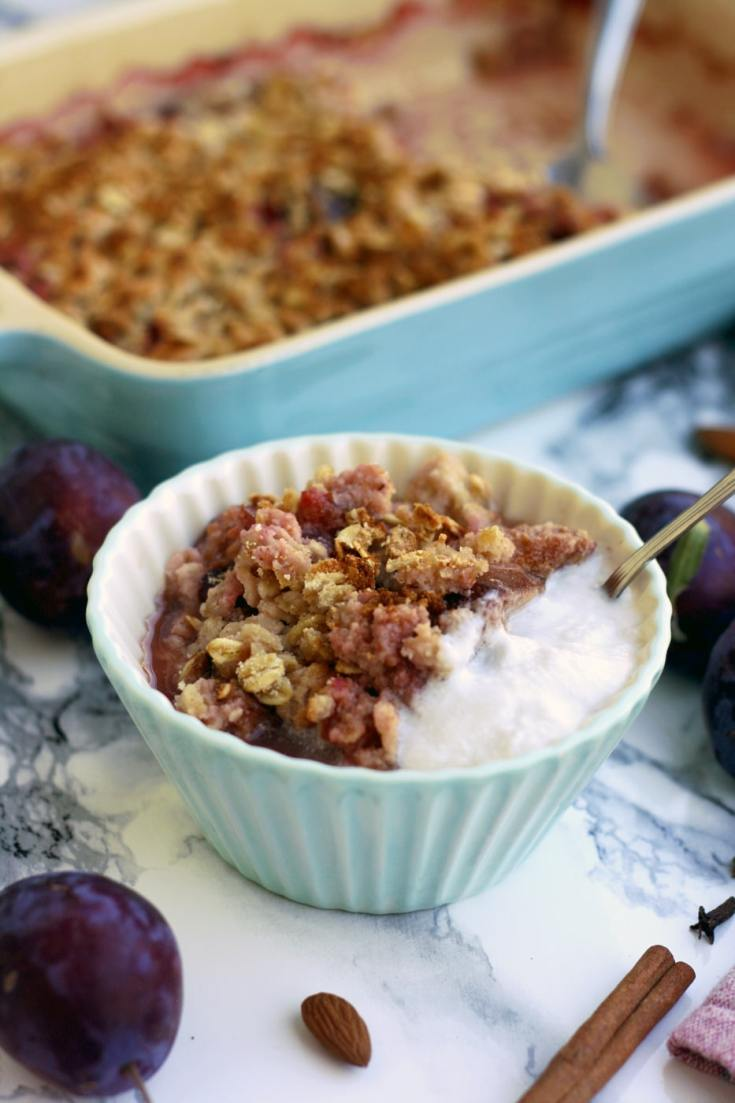 Vegan Plum Crisp with Coconut