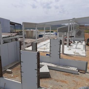 Avanza la construcción de las instalaciones de FERTINAGRO en Teruel.