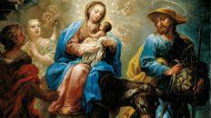 San José, la Virgen, el Niño