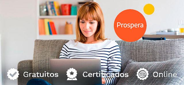 Prospera ofrece 400 cursos grautitos online certificados y subvencionados