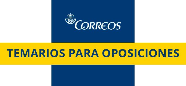 Temario Oposiciones Correos 2019