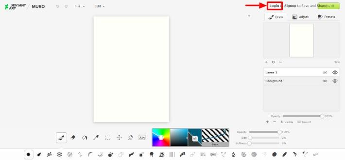 dibujar online con DeviantArt Muro