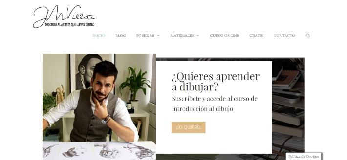 captura de pantalla de la página web de Juan Martín Villate