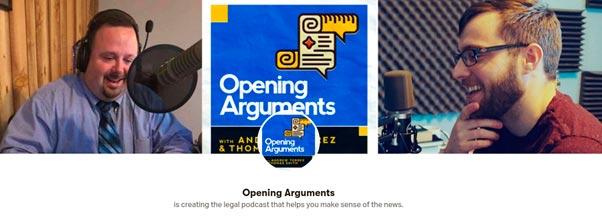 Argumentos de apertura