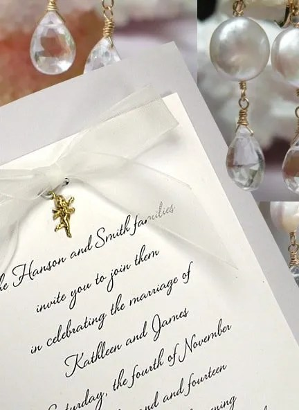Wedding Invitations With Charms