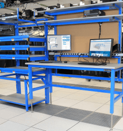 tech lab workbench server rack combo [ 1200 x 1200 Pixel ]