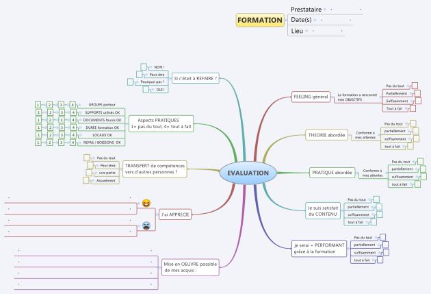 Comment évaluer une formation à chaud avec une carte heuristique ?