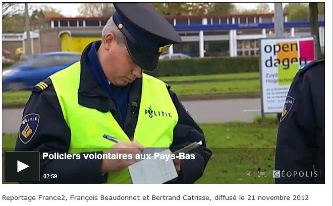Photo de Myeurop : capture d'écran d'un reportage de France 2 sur les policiers bénévoles