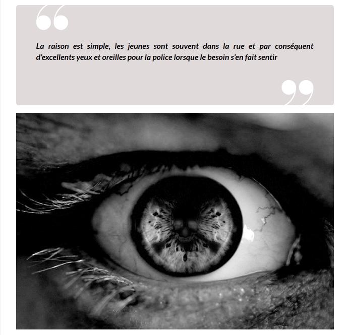 Photo d'Owni pour l'habillage de l'article : un oeil contenant le symbole du poison
