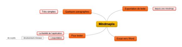Test d'exportation d'une carte à plusieurs niveaux vers un fichier Word