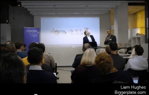 Liam Hughes, fondateur de Biggerplate, introduit Biggerplate Unplugged, le premier événement mindmapping français