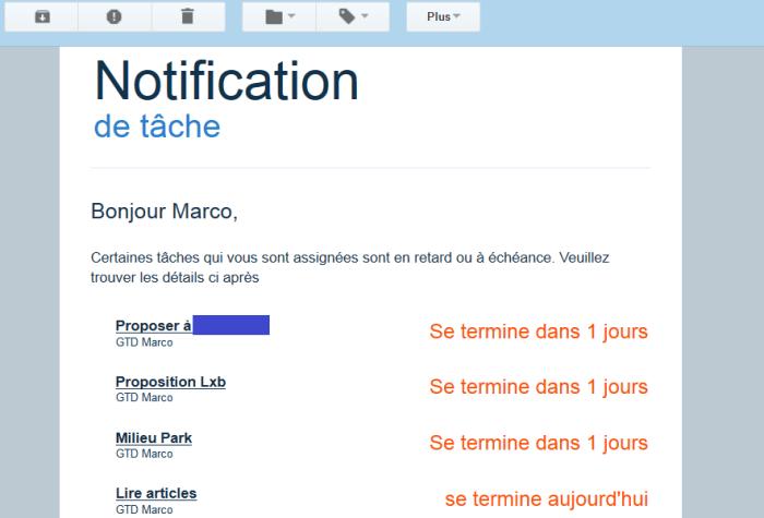 Notification des tâches par e-mail dans le logiciel de mindmapping MindMeister