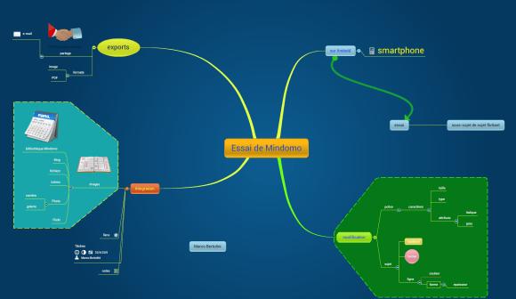 Carte mentale réalisée avec l'application Mindomo pour Android sur un smartphone - phablet - de type Galaxy Grand