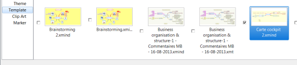 export d'un modèle ou template de carte mentale dans XMind 6
