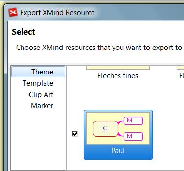 Export d'un thème XMind 6 avec la nouvelle command exports bundles