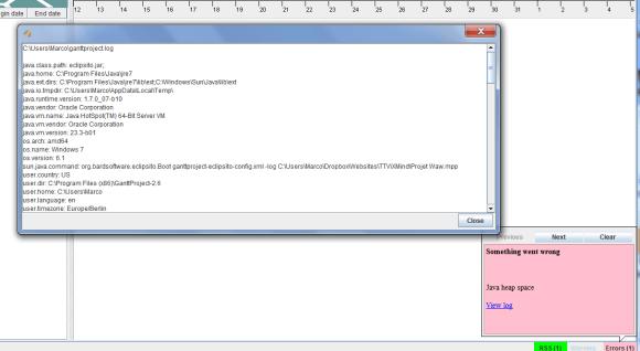 Problème de bug ou de compatibilité lors de l'export de la mindmap xmind 6 vers Microsoft Project