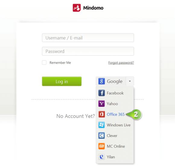 Connectez votre compte Mindomo avec Microsoft Office 365