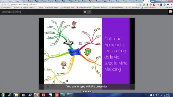 SlideDog : synchronisation de la présentation avec la tablette ou le smartphone des spectateurs
