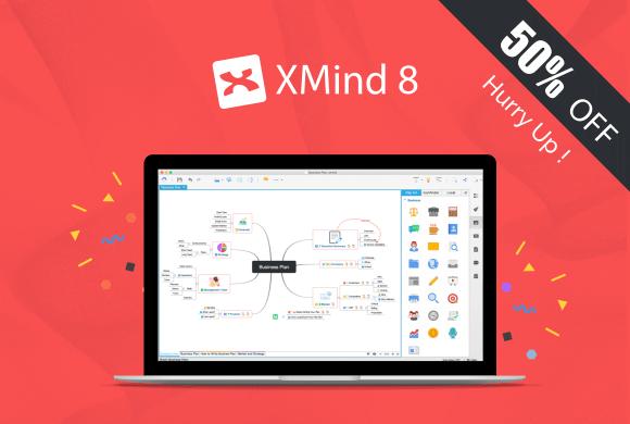 Achetez la nouvelle version de XMind à moitié prix, offre valable seulement aujourd'hui