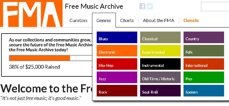 Free Music Archive propose de nombreuses musiques libres de droits pour vos vidéos pédagogiques