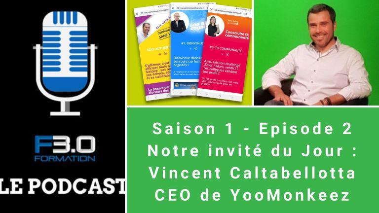 Vincent Caltabellotta, CEO de YooMonkeez invité du podcast formation 3.0