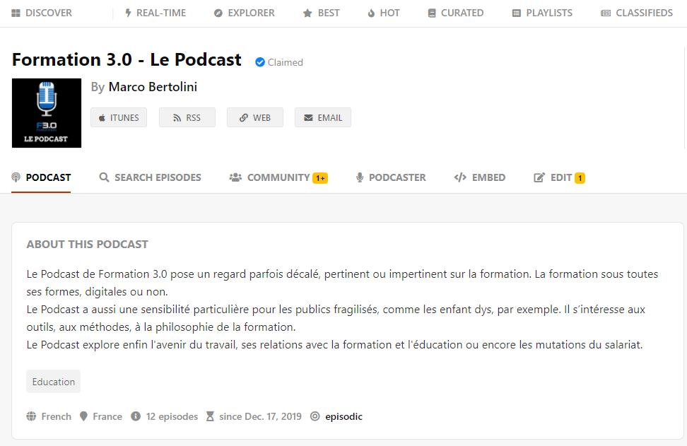 Revendiquez votre podcast sur Podchaser ou sur Listen Notes