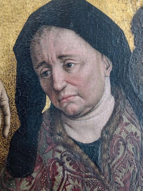 Détail de la Descente de Croix d'après Rogier Van Der Weyden, une des étapes du parcours avec Hololens de l'Eglise Saint-Pierre de Louvain