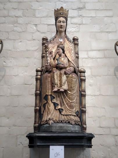 Chaire de Sagesse, une des étapes du parcours Hololens de l'Eglise Saint-Pierre de Louvain