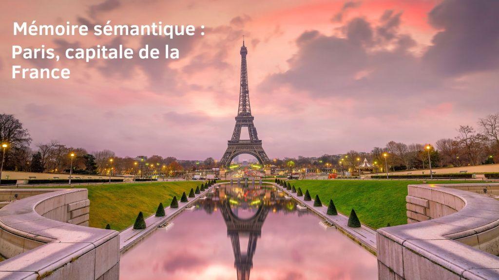 Mémoire sémantique : je sais que Paris est la capitale de la France