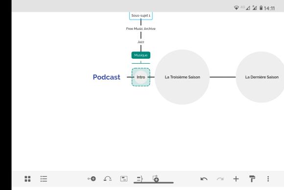 Structurer un podcast sur XMind 2021 avec un smartphone