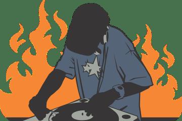 deejay dj mix urbain platine flammes
