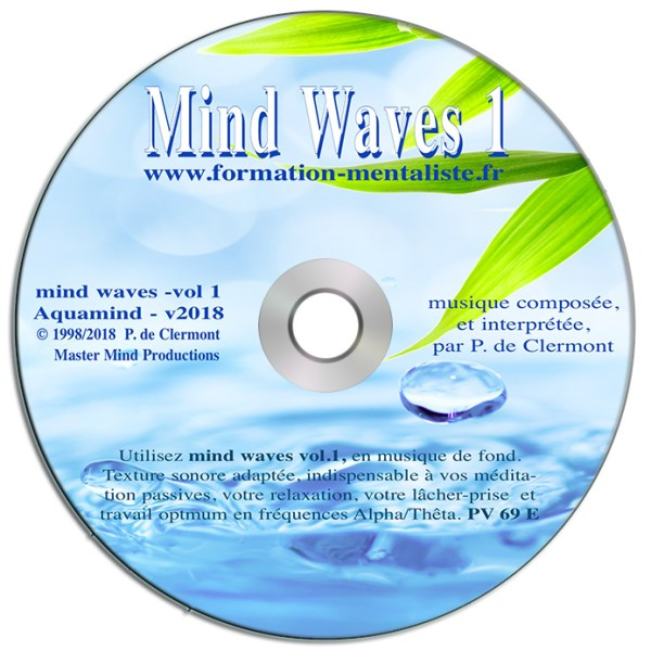 Mentalisme Pascal de Clermont CD Mind Waves 1 AQUAMIND visuel