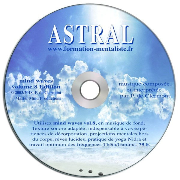 Mentalisme Pascal de Clermont CD Mind Wave ASTRAL v1 visuel