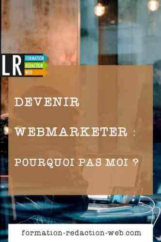 Devenir webmarketer