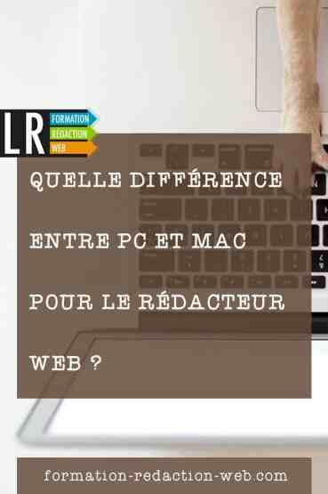 Quelle est la différence entre PC et MAC ?