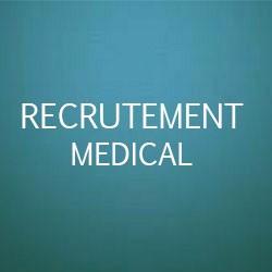Recrutements dans le médical