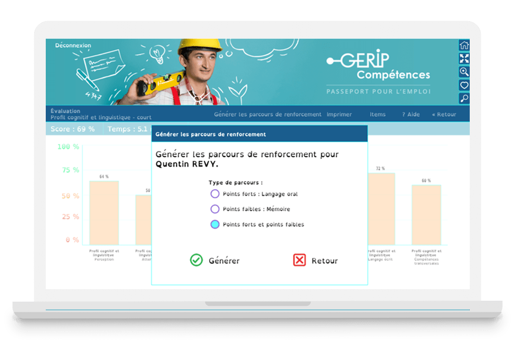 Evaluation CléA apprenant Gerip Competences