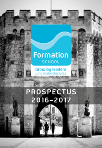 Formation School prospectus cover