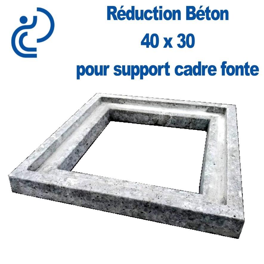 reduction beton 40x30 pour support cadre fonte