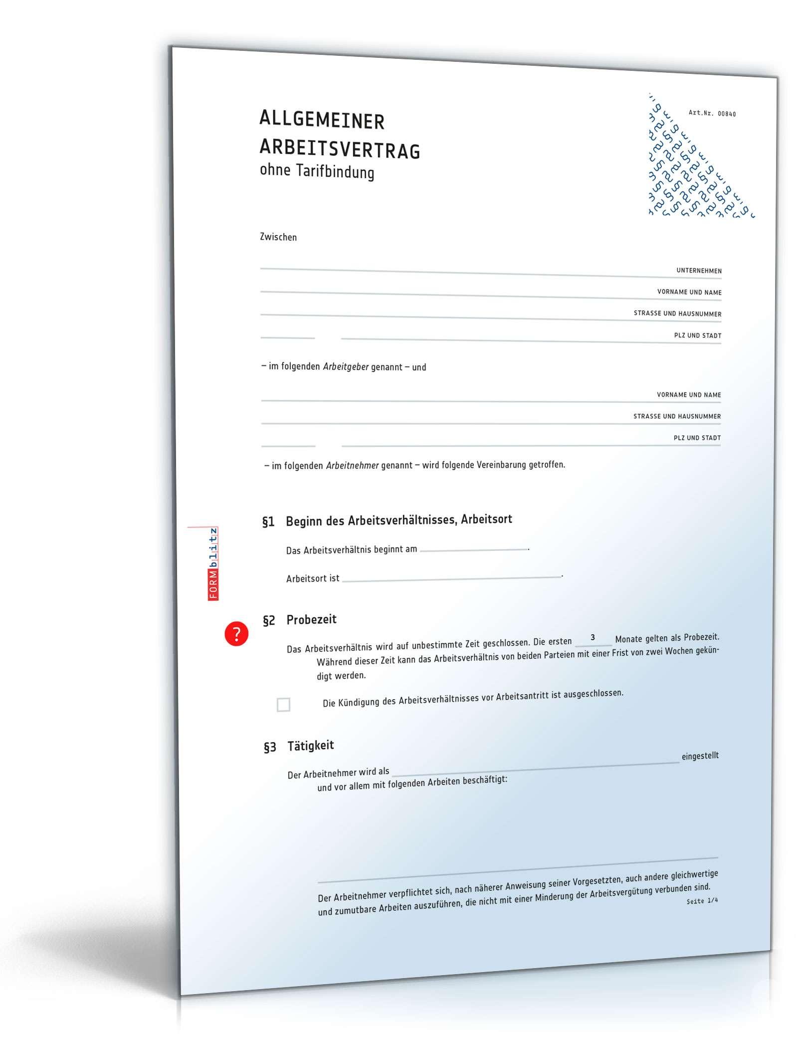 Muster Arbeitsvertrag Kostenlos Vorlage Hits Vorlagen Blog