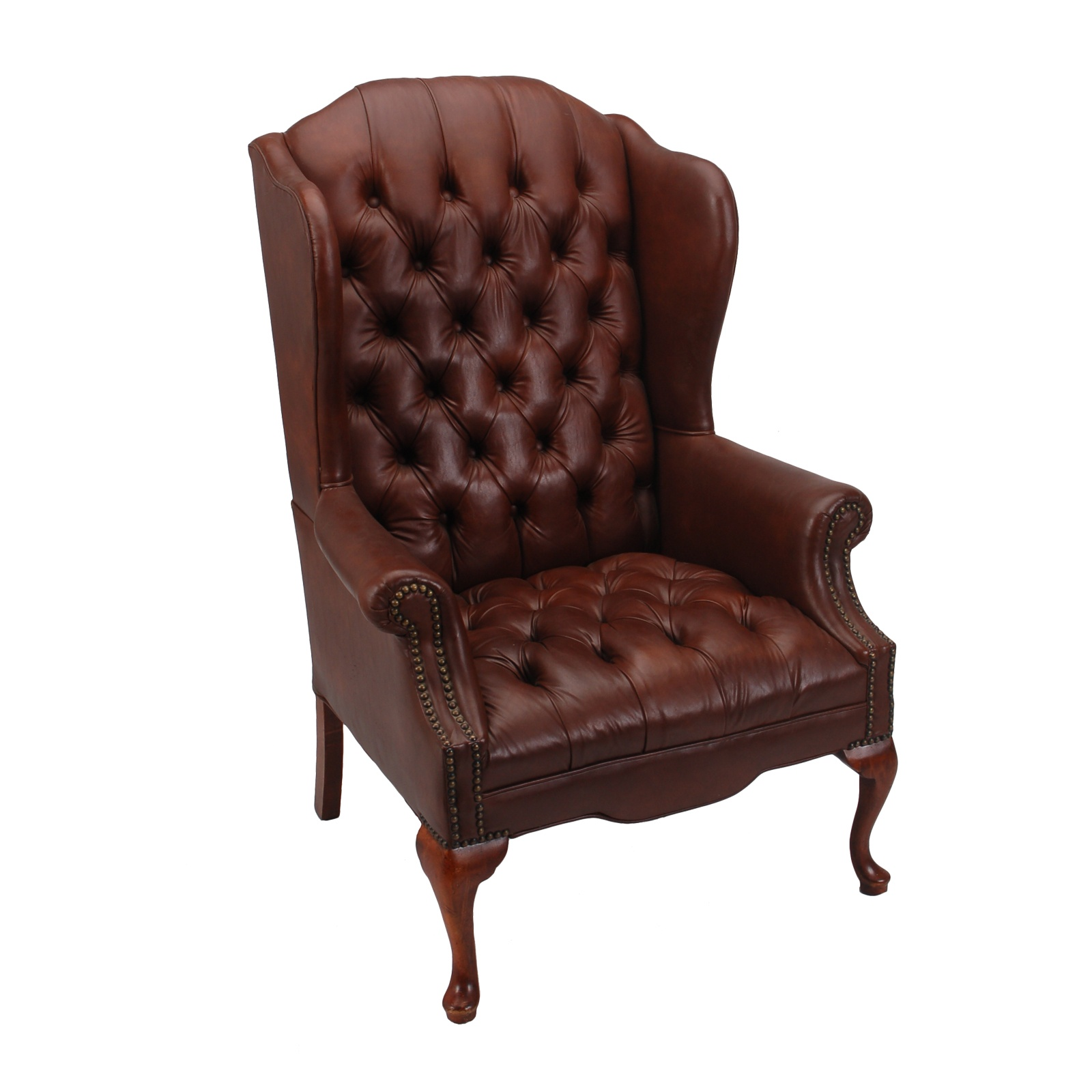 Brown Leather Wingback Chair Jonathan Wingback Chair Formdecor