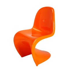 Vernon Panton Chair Round Banquet Covers Orange Formdecor